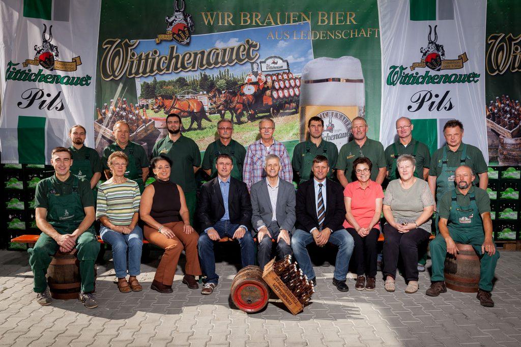 Stadtbrauerei Wittichenau - Gruppenfoto 2015